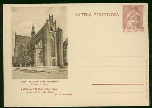 波兰 1938年 邮资片 邮资图